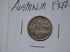 1942 AUSTRALIAN SIXPENCECONTAINING .0842 TROY OZ SILVER XF