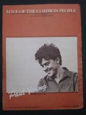 PAUL YOUNG -80's Original sheet music-LOVE OF THE COMMON PEOPLE