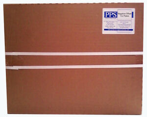 """Negative Offset Metal Plates 13""""(330mm) x 19 3/8""""(492mm) .0055(.15mm) 1- Sided"""