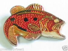 Large Mouth Bass Pin , Bass vintage Lapel Pin (nice size)