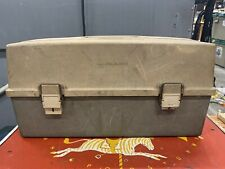 Vintage Plano Fishing Tackle Box #7530 case 3 Trays Lt Tan & Brown Plastic Usa