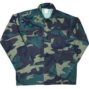 Vtg Liberty Hunting Camo Button Up Camo Shirt Youth Size XL 18/20 USA Made