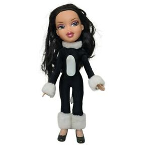 Bratz Doll Costume Party Black Cat Jade black and white One piece suit