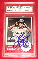 Jackie Bradley Jr Boston Red Sox Signed Autograph 2012 Topps Heritage PSA/DNA