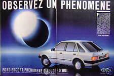 PUBLICITÉ 1984 FORD ESCORT PHENOMENE D'AUJOURD'HUI - ADVERTISING