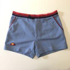 Vintage ELLESSE Shorts S 48 Pantaloncini Tennis Azzurro McEnroe Borg VTG Retro
