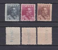 SPAIN 1924 King Alfonso XIII Mint * 342-344 (Mi.294-296)