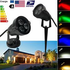 3X3W Garden LED Landscape Spot Light Lawn RGB Garden Outdoor Light Decor Lamp
