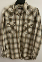 ROPER MEN'S SNAP BUTTON FRONT WESTERN LONG SLEEVE SHIRT SIZE LARGE