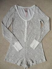 EX LA SENZA CREAM ANIMAL PRINT PJ PYJAMA PLAYSUIT SHORT ONE PIECE   L UK 16-18