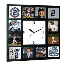 New York Yankees Derek Jeter Clock with 12 pictures