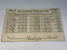 RARE VINTAGE 1946 STAINES VINTAGE GREYHOUND RACING PROGRAMME 10TH SEPT MEETING