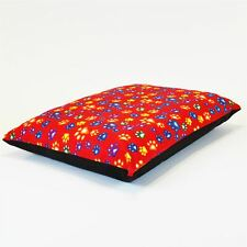 Medium Size Dog Bed - Washable cover Clearance - Mixed Paws (Red Medium)