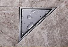 Modern Chrome Bathroom Floor Drain Triangle Invisible Shower Drain Grate Waste