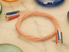 ♫ CÂBLE PERFECT CRYSTAL OCC 40 cm BRAS PLATINE VINYLE + cable terre ♫