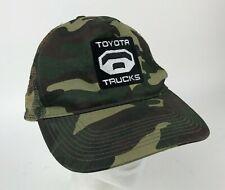 TOYOTA TRUCKS Camo TRUCKER Snapback HAT Cap EMBROIDERED Logo TUNDRA Green