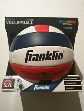 New FRANKLIN Official Volleyball Beach Ball Red White Blue Outdoor Soft NIB