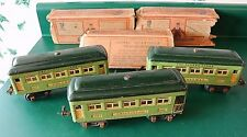 3 PREWAR LIONEL CARS 2-607 PULLMAN CARS & 608 OBSERVATION CAR WITH BOXES