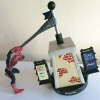"Attacktix Marvel Figure ""Spider Man Spinning"" Swings From Base 2007"