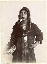 Gabriel Lekegian - Chanteuse ambulante - Tirage albuminé 1880 - Egypte -