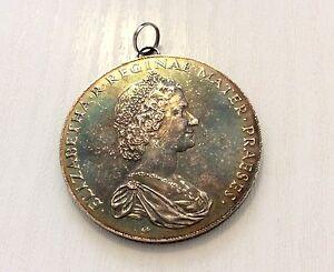 "Superb Large Heavy Solid Silver National Trust Medal "" Doris Sherwood "" Nice"