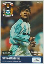 RICHARD SHAW COVENTRY CITY 1995-2006 ORIGINAL HAND SIGNED PROGRAMME
