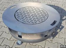 Grillplatte aus Edelstahlblech für Feuerschale Ø 80 cm