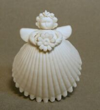 Margaret Furlong 1998 Boxed Bisque Shell Angel Ornament Holding Daisy