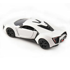 FAST & FURIOUS White Race Car Lykan Hypersport 1/32 Scale Diecast Vehicles Model