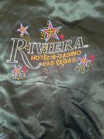 RIVIERA HOTEL & CASINO JACKET Satin Coat Embroidered Logo SZ LARGE