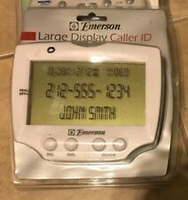 Emerson Telephone Caller ID LARGE DISPLAY White 60 Number Memory NEW EM50LD