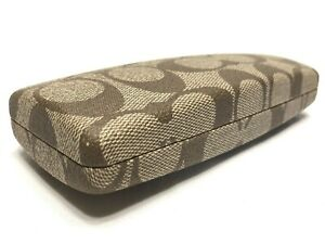 Authentic Coach Hard Side Clamshell Eyeglasses / Sunglasses Case