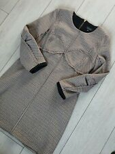 TOPSHOP VINTAGE STYLE CHUNKY HOUNDSTOOTH CHECK DRESS SIZE 14