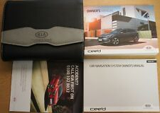 GENUINE KIA CEED OWNERS MANUAL HANDBOOK NAVI 2015-2017 PACK WALLET 13535 !