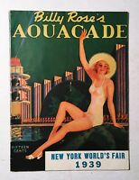1939 New York World's Fair (Most-Likely Autographed) Aquacade Program