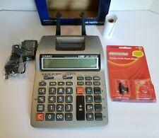 Casio HR-100TM Plus Desktop Printing Calculator, 12 Digit, 2 Color Print + More