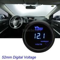 "2"" 52mm Digital Voltage Gauge Meter DC 0-15V Voltmeter Blue Digital LED Boat Car"