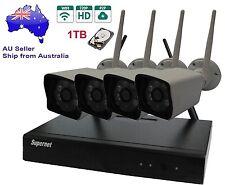 Supernet 4CH 720P HD Wireless CCTV Security Camera System 1TB Wifi plug&play