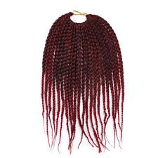 "12"" Black Box Braids Short Crochet Braids Hair Synthetic Braiding Hair Extension"