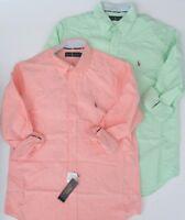 NWT Ralph Lauren Men's Long Sleeve Classic Fit Solid Oxford Shirt Sz M L XL NEW