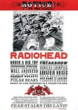 RADIOHEAD FEAR ALBUM COVER 24x36 poster THOM YORKE ALTERNATIVE ROCK CLASSIC NEW!