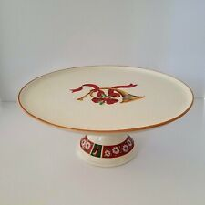 Vintage Charlton Hall By Kobe Horn Footed Cake Stand Plate Japan Holiday