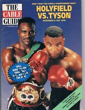 1991 EVANDER HOLYFIELD signed Cable Guide MIKE TYSON cover AUTO
