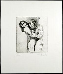 "Kunst in der DDR. ""Paar I"" 1986 Aquatinta Ralph PENZ (*1954 D) handsigniert 2/15"