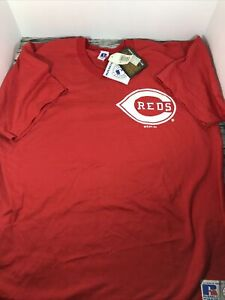 Vintage 1994 Cincinnati Reds V-Neck Extra-Large T-Shirt NWT Russell Athletic