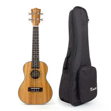 "Kmise Zebra wood Concert Ukulele Hawaii Guitar Musical Instruments 23"" With Bag"