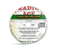 Radio Age Magazine, 63 Classic Old Time Radio OTR Magazine Collection PDF CD B90