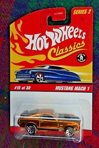 """2006 HOT WHEELS """"Classics"""" 1970 Ford Mustang Mach 1 spectraflame gold"""