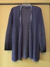 NEW NIC+ZOE Long Navy & White Stripe Cardigan, Size 1X Plus, NWOT  $168