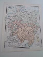 Antique Map 1890 ~ PHYSICAL MAP GERMANY - From Philips Atlas For Beginners  §10